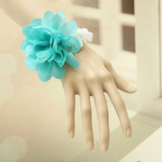 Vintage Lace Blue Big Flower Bracelet For Girlfriend