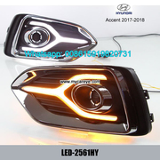 Hyundai Accent 17-18 DRL LED Daytime Running Lights autobody parts
