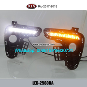Kia Rio LED DRL day time running lights driving daylight